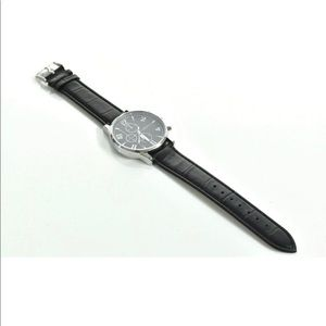 NEW - GENEVA ANALOGUE FAUX LEATHER WATCH